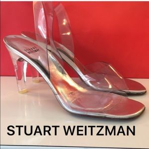 ⭐️STUART WEITZMAN LUCITE HEELS 💯AUTHENTIC